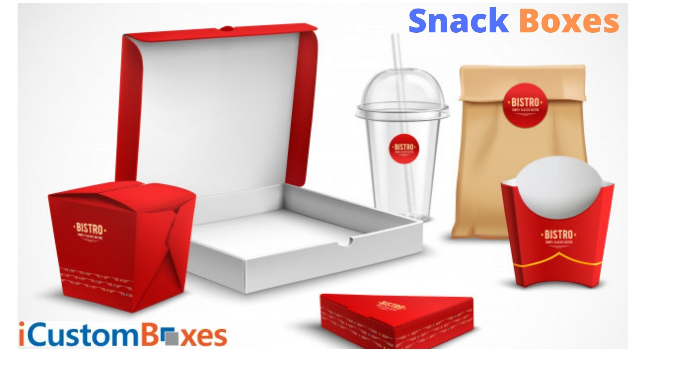 Customized Top NO 1 Snack Boxes Wholesale at ICustomBoxes